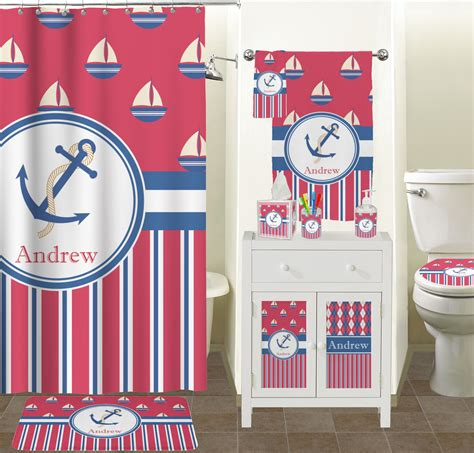 boat bathroom accessories sail boats stripes bathroom accessories set