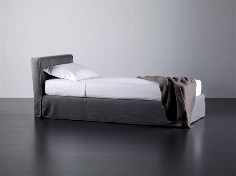 upholstered bed with removable cover by meridiani