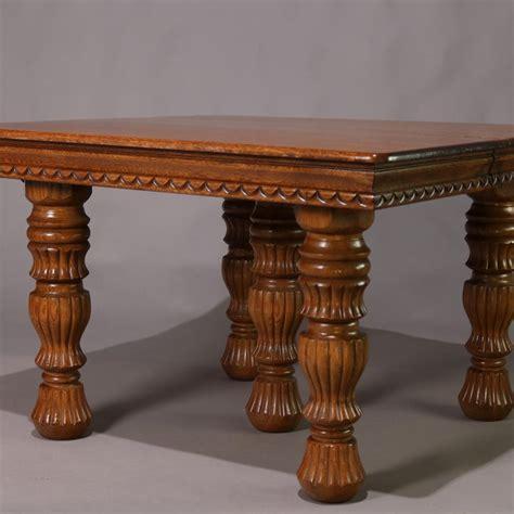 antique victorian quarter sawn oak extending dining table