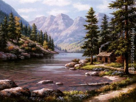 Log Cabin Retreats sung log cabin retreat painting