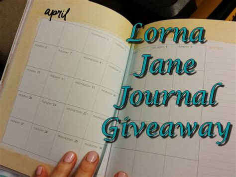 Journal Giveaway - lorna jane journal review and giveaway