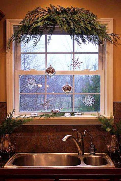 rustic christmas window decorations ideas decoration love