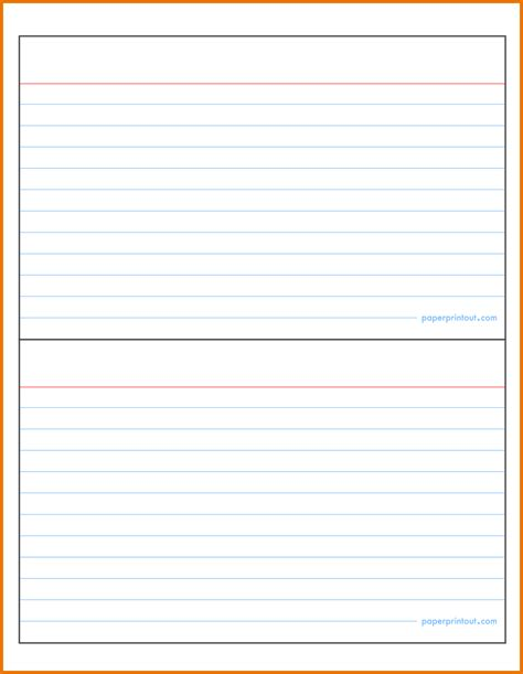 Note Card Template by Flash Card Template Free Printable Blank Card Templates