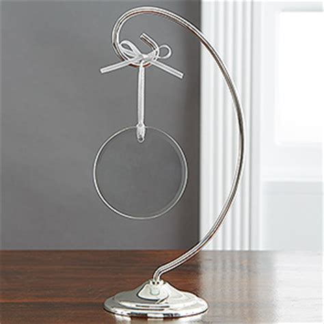 ornament stands curved silver ornament display stand