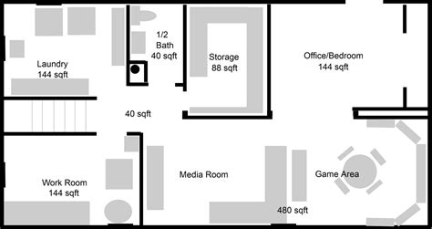 basement planning basement floorplan ideas images frompo 1