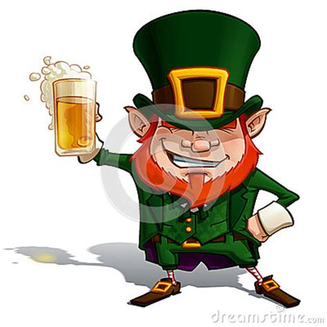 cartoon beer cheers st patrick cheers royalty free stock photo image 30094875