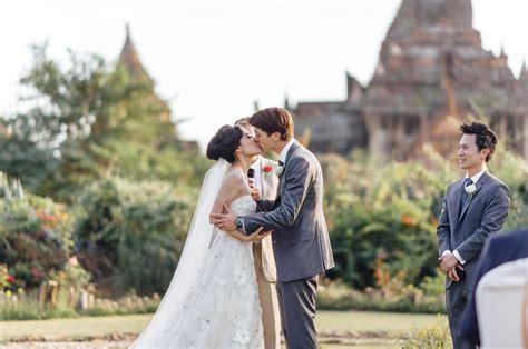 dreamy destination wedding  bagan myanmar candice