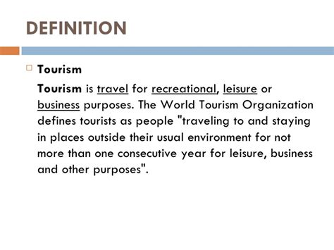 Theme Tour Definition | chapter 1 profile of tourism and hospitality