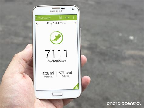 android step counter using the s health app on the samsung galaxy s5 android central
