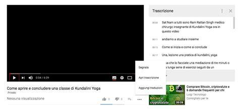 ci tutorial video tutorial traduzione automatica dei video di youtube