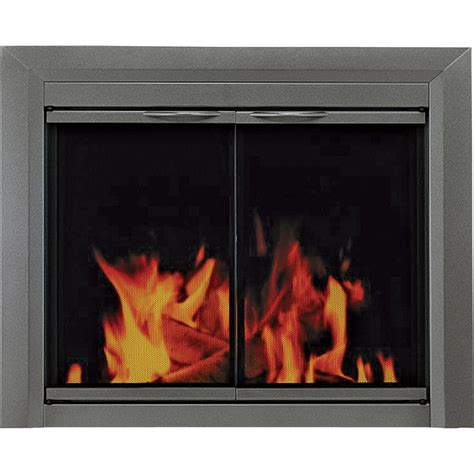 Pleasant Hearth Glass Fireplace Doors Pleasant Hearth Craton Fireplace Glass Door For Masonry Fireplaces Large Gunmetal Model Cr