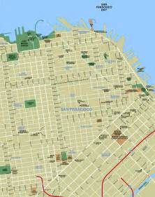 Map Of Downtown San Francisco by Downtown San Francisco Tourist Map San Francisco