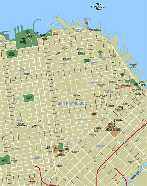 sf district map san francisco map toursmaps