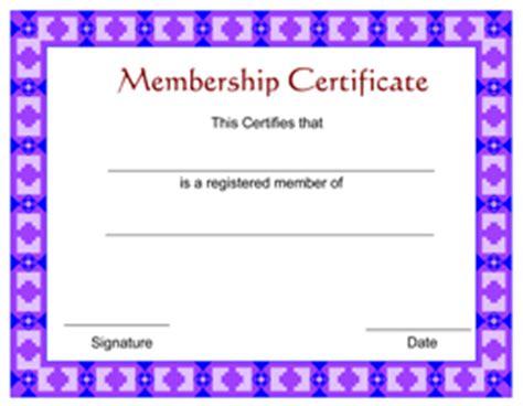 membership certificate template free free membership certificate template certificatetemplate net