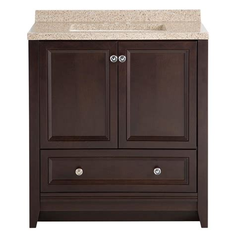 glacier bay bathroom vanities upc 008033064143 glacier bay delridge 30 in w modular vanity in chocolate with solid surface