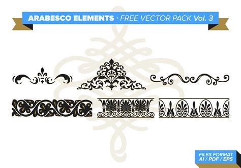 design elements vector pack arabesco elements free vector pack vol 3 download free