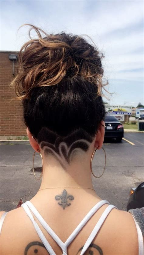 back of the head haircuts for black women fleur de lis undercut hair designs for the most bold and