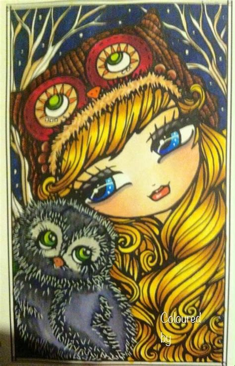 enchanted faces mermaids fairies coloured by marilyn jane knott enchanted faces by hannah lynn used copics and a white