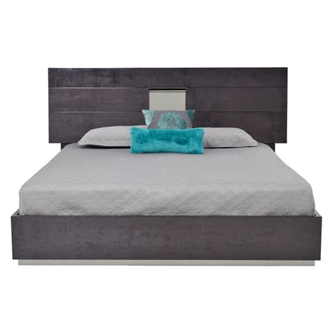 uptown bed grey 101 480d heritage platform bed made in italy el dorado furniture