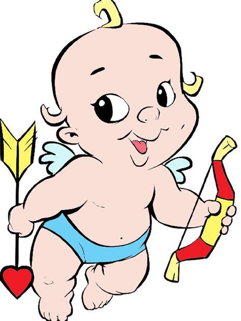 Stampa disegno di Baby Cupido a colori
