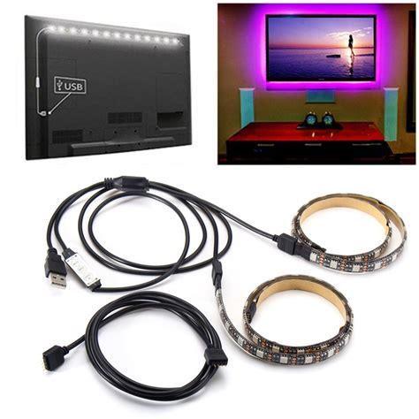 Led Rgb 5050 50cm 2pcs Dengan 5v Usb Controller Remote 2pcs 50cm 5v 5050 waterproof rgb usb led light bar tv background lighting kit alex nld