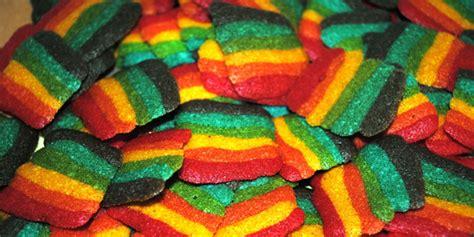 cara membuat kue kering rainbow resep cara membuat kue lidah kucing rainbow enak cara