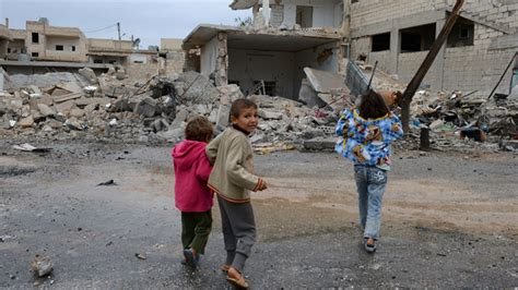 Child In The War child abuse on rise in war torn syria un rt news