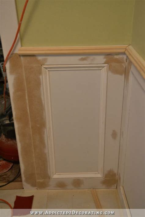 what type of wallboard to use in bathroom recessed panel wainscoting with tile accent part 1