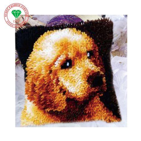 hook rug kit diy unfinished crocheting yarn mat latch hook
