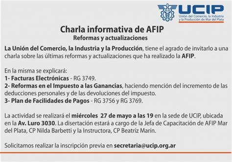 afip devoluciones 2015 que fecha de agosto se cobra charla informativa de afip ucip