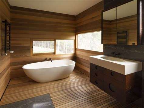 wood wall in bathroom contemporary brown wood wall panel and white freestanding