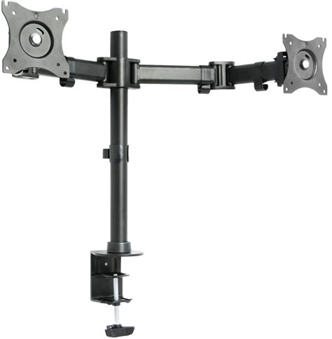 dual monitor desk mount vivo dual monitor arms fully adjustable desk mount stand