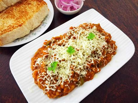indian pav recipe cheesy pav bhaji recipe by archana s kitchen