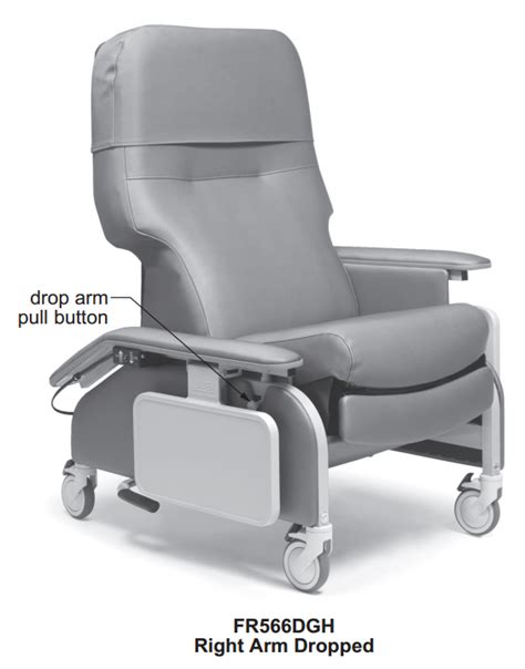Geri Recliner Chair by Lumex Deluxe Clinical Care Geri Chair Recliner With Drop