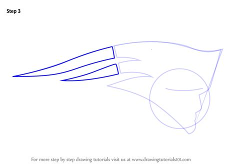 how to draw learn how to draw new patriots logo nfl step by