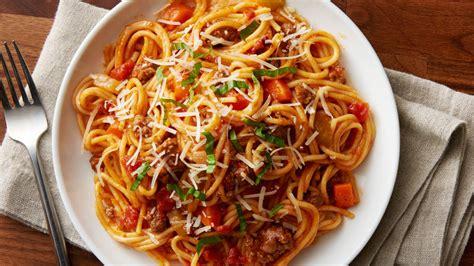 printable pork recipes instant pot spaghetti bolognese recipe bettycrocker com