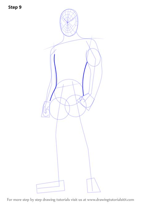 learn   draw spiderman standing spiderman step