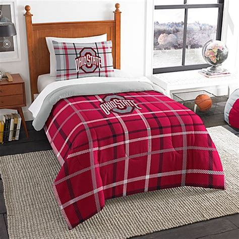 ohio state university embroidered comforter set bed bath