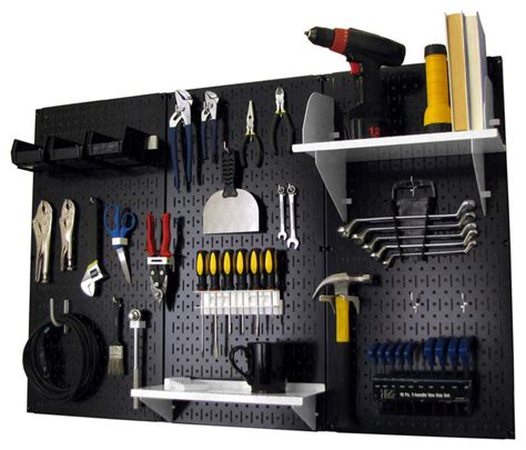 Tool Board Garage by Pegboard Organizer Tool Storage Kit Black Toolboard And