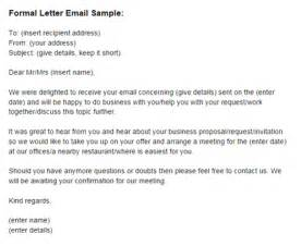 Formal Letter Via Email How To Write A Formal Letter Via Email Cover Letter Templates