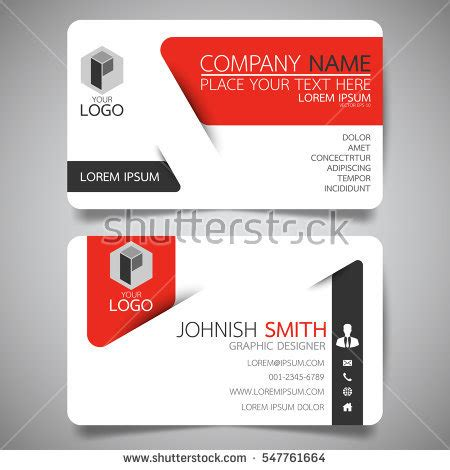 business name card design template horizontal stock images royalty free images vectors