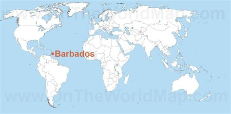 where is barbados on world map barbados on world map like success