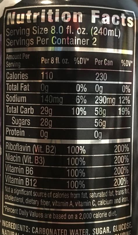 energy drink nutrition label energy nutrition label primus green energy