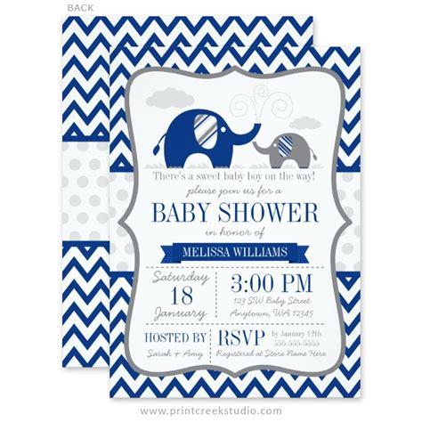 Blue Elephant Baby Shower by Blue Elephant Baby Shower Invitations Gangcraft Net