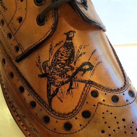 tattoo shoes tattooed brogues for country walks leather shoes boots