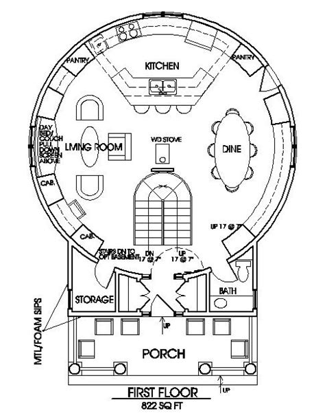 grain bin home floor plan or yurt home floor plans