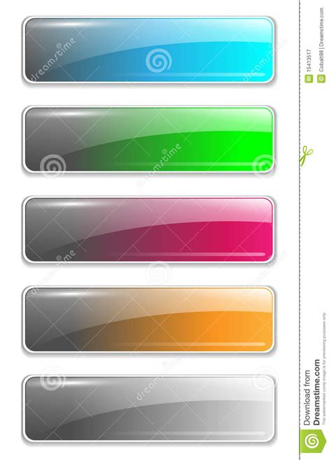 Website Buttons Template Royalty Free Stock Photography Image 15413517 Button Website Template