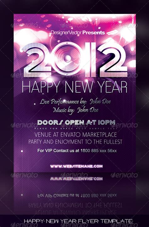 new year printable posters happy new year flyer poster template print ad templates