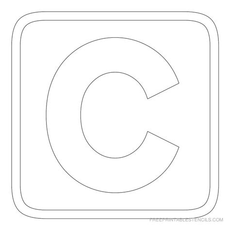 free printable stencil letter c printable block letter stencils free printable stencils