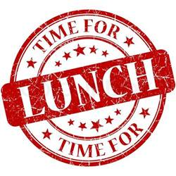 What Time Is Lunch by Time For Lunch Grungy Vintage Isolated Rubber